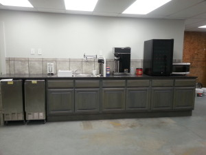 Cabinets and countertop, ice makers